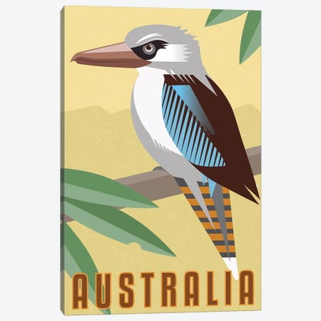 Kookaburra Canvas Print #AAW38} by Anvil Artworks Canvas Wall Art