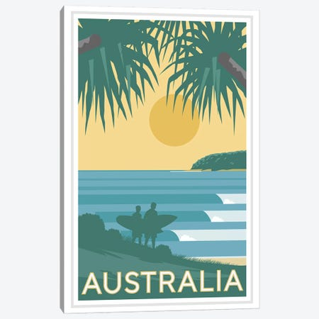 Australia Canvas Print #AAW3} by Anvil Artworks Art Print