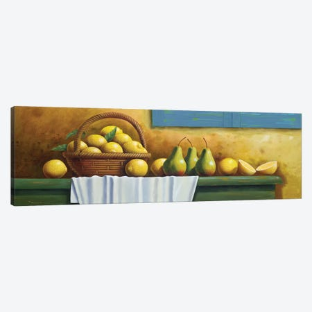 Lemons And Pears Canvas Print #AAW40} by Anvil Artworks Canvas Print