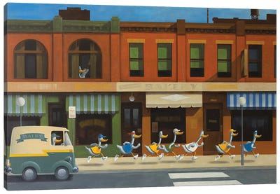 Morning Run Canvas Art Print