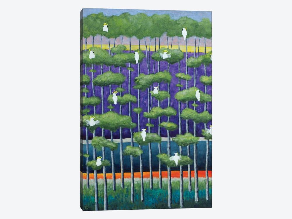 Purple Birch And Birds by Anvil Artworks 1-piece Canvas Print