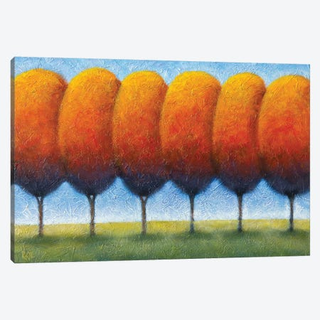 Autumn Boulevard Canvas Print #AAW5} by Anvil Artworks Canvas Artwork