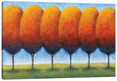 Autumn Boulevard Canvas Art Print