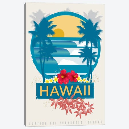 Surfing Hawaii Canvas Print #AAW64} by Anvil Artworks Canvas Wall Art