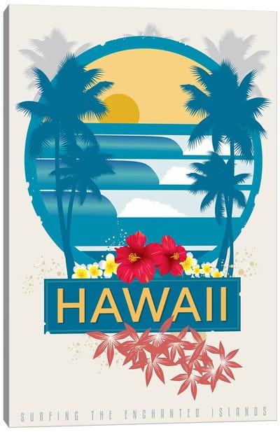 Surfing Hawaii Canvas Art Print