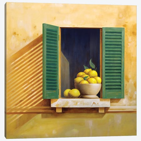 Tuscan Lemons Canvas Print #AAW67} by Anvil Artworks Canvas Artwork