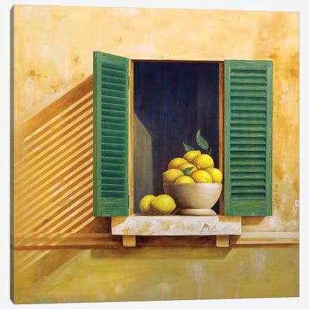 Tuscan Lemons Canvas Print #AAW67} by Anvil Artworks Canvas Artwork