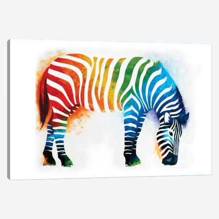 Zebra Canvas Print #AAW73} by Anvil Artworks Canvas Art