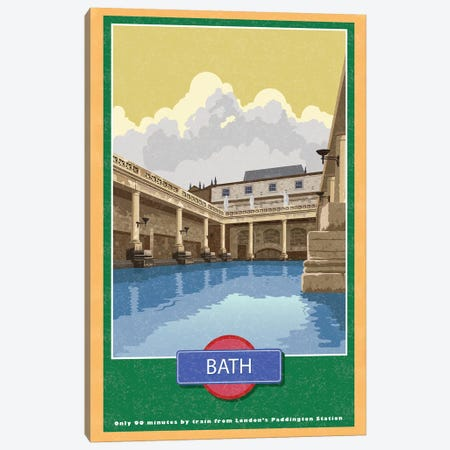 Bath Canvas Print #AAW8} by Anvil Artworks Art Print