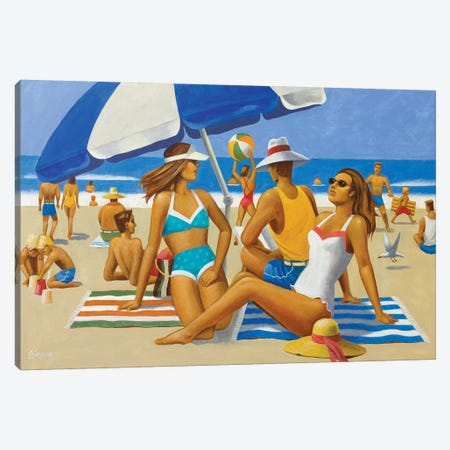 Beach Montage I Canvas Print #AAW9} by Anvil Artworks Art Print