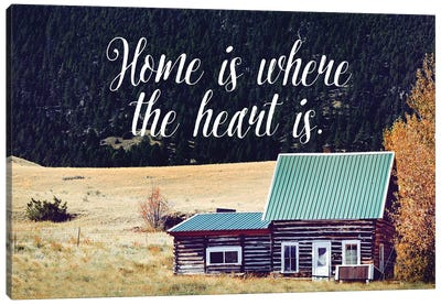 Where The Heart Is Canvas Art Print