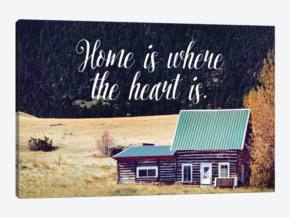 Where The Heart Is by Little Cabin Art Prints 1-piece Canvas Wall Art