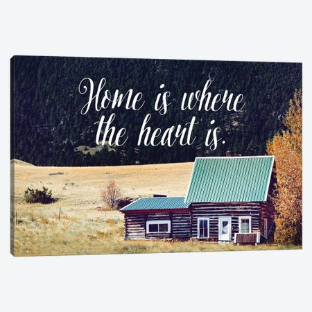 Where The Heart Is Canvas Print #ABA105} by Little Cabin Art Prints Canvas Art Print