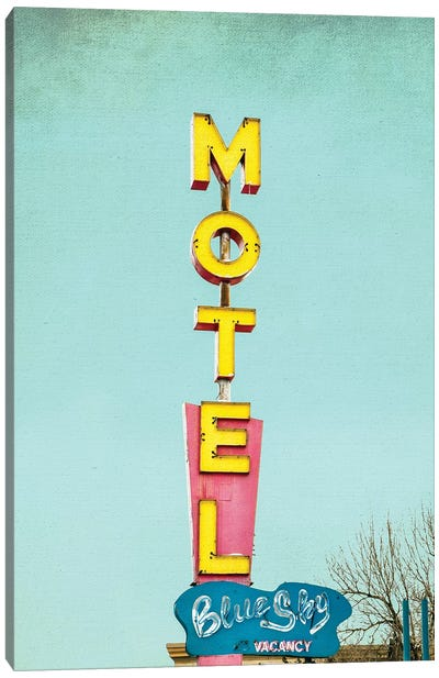 Blue Sky Motel Canvas Art Print