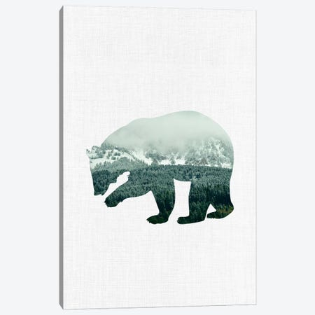 Brown Bear Canvas Print #ABA12} by Little Cabin Art Prints Canvas Wall Art
