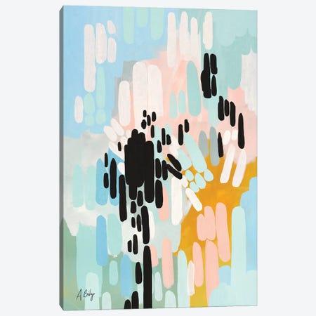 Collisions Canvas Print #ABA16} by Little Cabin Art Prints Canvas Art Print