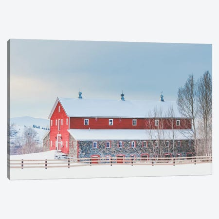 Country Living 3-Piece Canvas #ABA20} by Little Cabin Art Prints Canvas Print