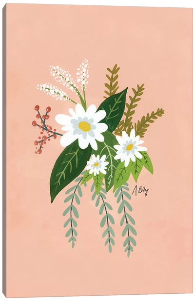 Folk Art Flowers I Canvas Art Print