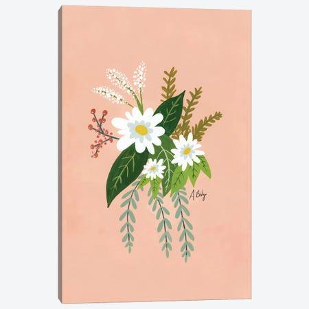 Folk Art Flowers I Canvas Print #ABA27} by Little Cabin Art Prints Canvas Art