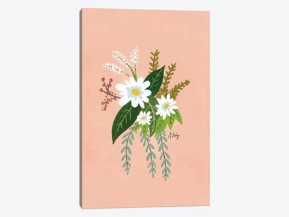 Folk Art Flowers I by Little Cabin Art Prints 1-piece Canvas Artwork