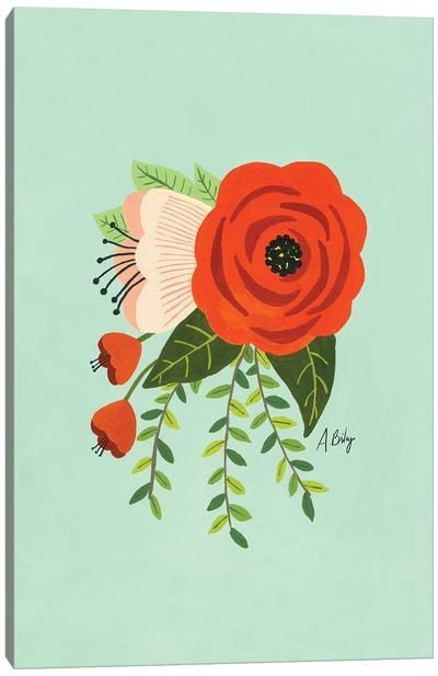 Folk Art Flowers II Canvas Art Print