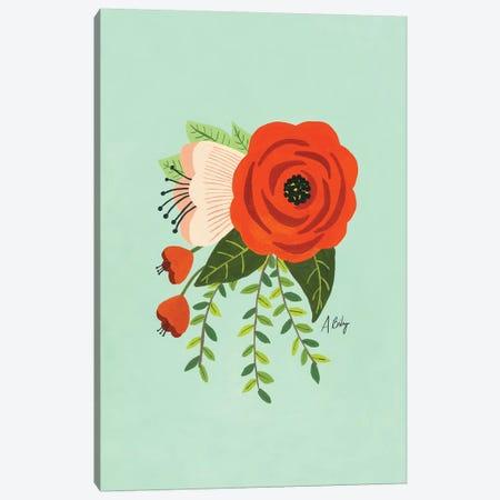 Folk Art Flowers II Canvas Print #ABA28} by Little Cabin Art Prints Canvas Art Print