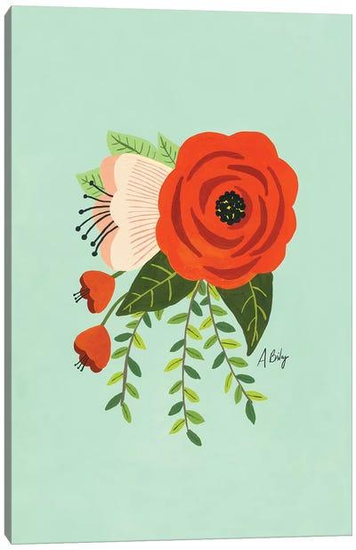 Folk Art Flowers II Canvas Art Print