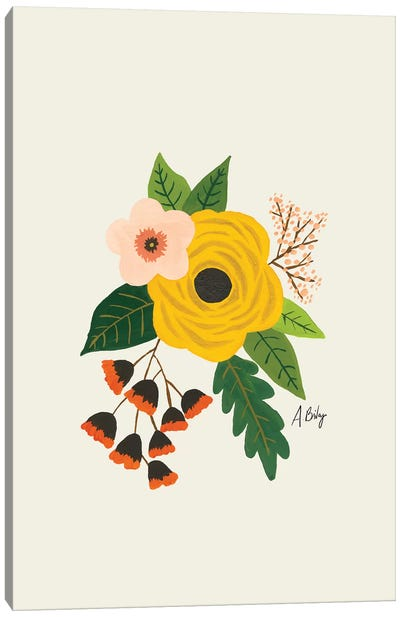 Folk Art Flowers III Canvas Art Print