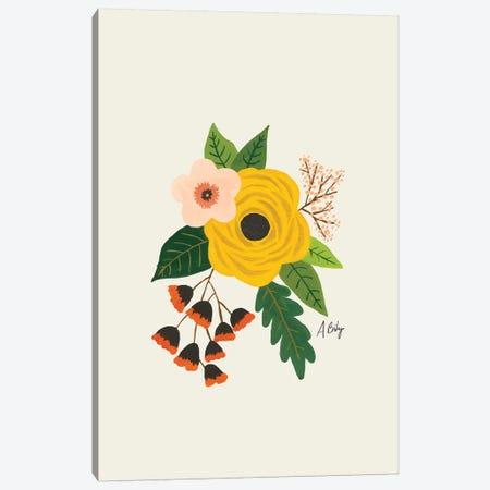 Folk Art Flowers III Canvas Print #ABA29} by Little Cabin Art Prints Art Print
