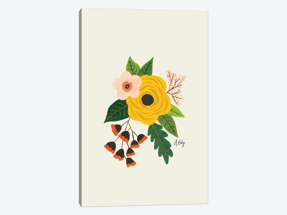 Folk Art Flowers III by Little Cabin Art Prints 1-piece Canvas Wall Art