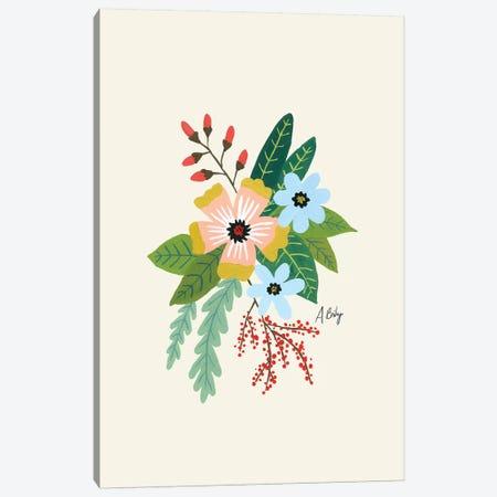 Folk Art Flowers IV Canvas Print #ABA30} by Little Cabin Art Prints Canvas Artwork