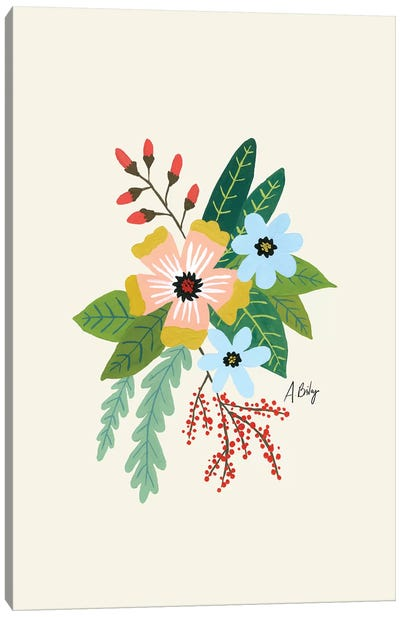 Folk Art Flowers IV Canvas Art Print
