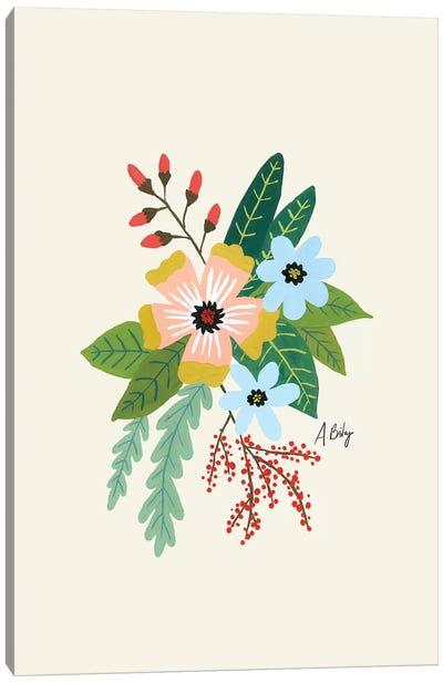 Folk Art Flowers IV Canvas Art Print