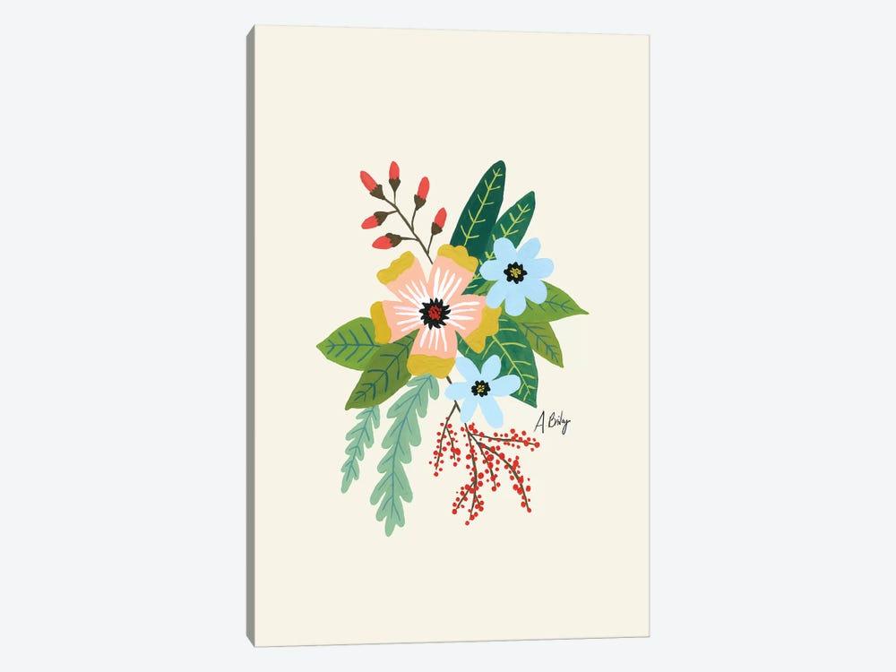 Folk Art Flowers IV by Little Cabin Art Prints 1-piece Canvas Art