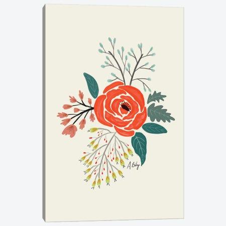 Folk Art Flowers VI Canvas Print #ABA32} by Little Cabin Art Prints Canvas Wall Art