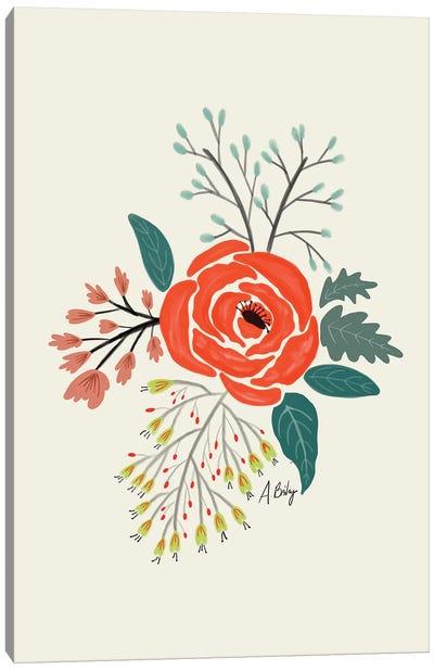 Folk Art Flowers VI Canvas Art Print