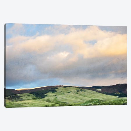 Green Hills Canvas Print #ABA36} by Little Cabin Art Prints Canvas Art Print
