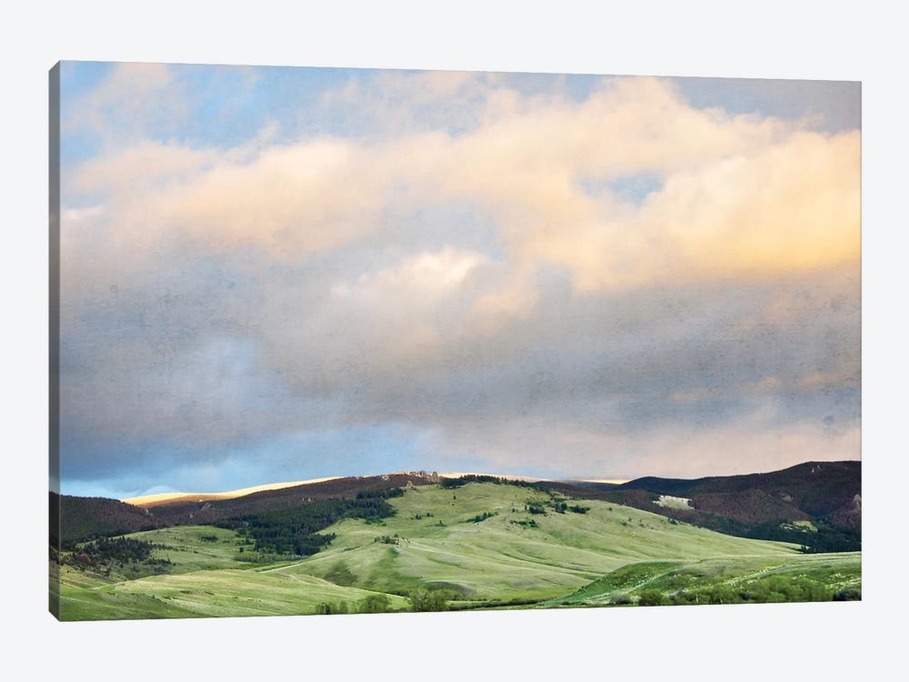 Green Hills by Little Cabin Art Prints 1-piece Canvas Artwork
