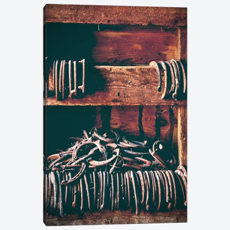 Horseshoes Canvas Print #ABA39} by Little Cabin Art Prints Canvas Wall Art