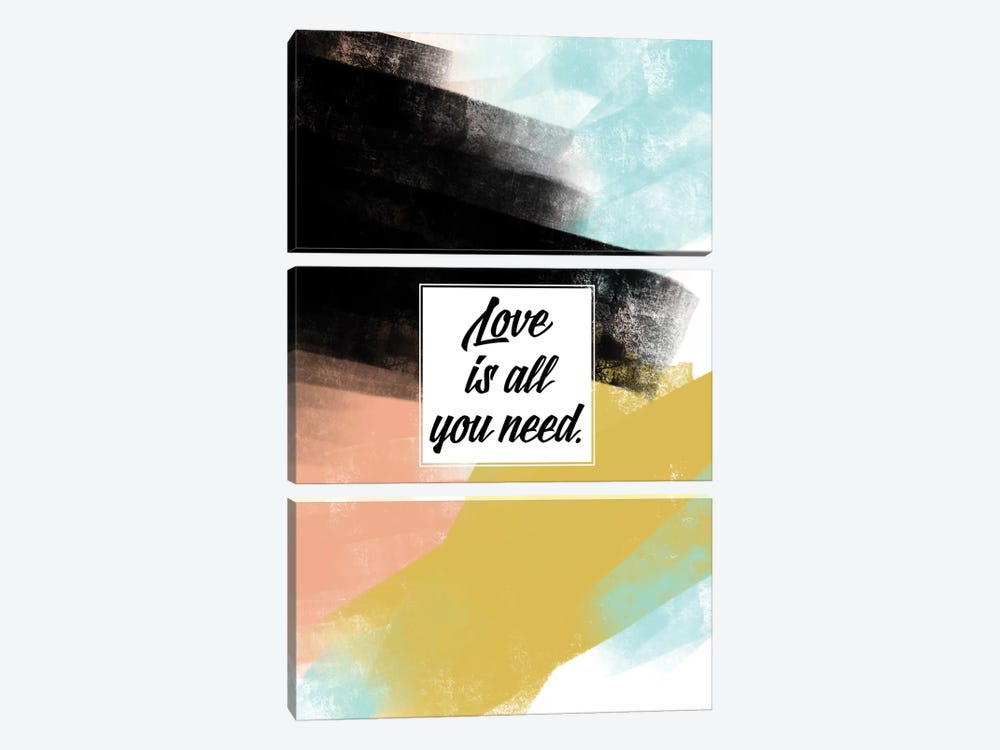 Love Is All You Need by Little Cabin Art Prints 3-piece Canvas Wall Art