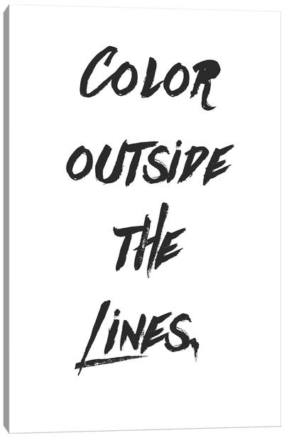 Outside The Lines Canvas Art Print