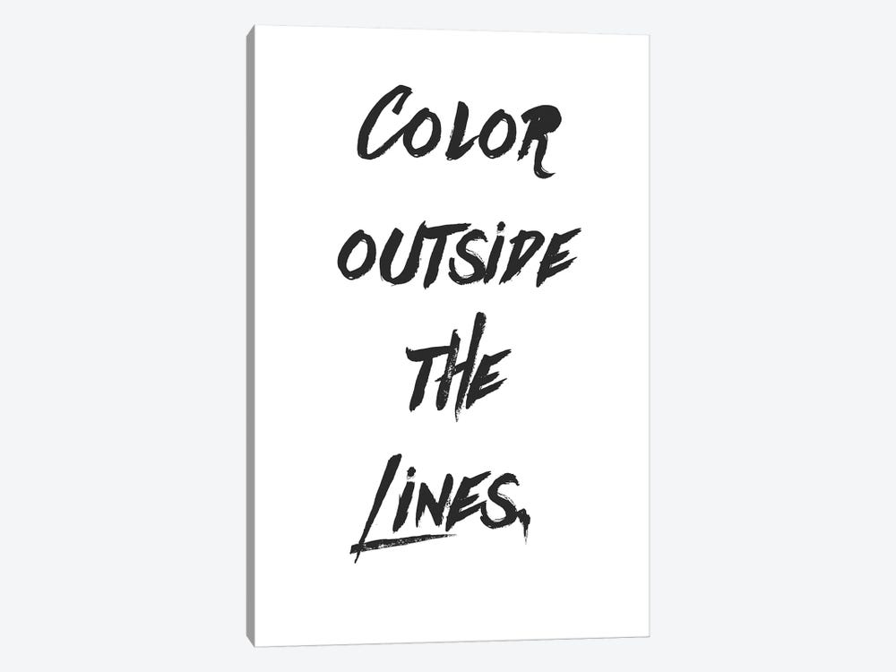 Outside The Lines by Little Cabin Art Prints 1-piece Canvas Print