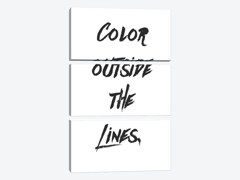 Outside The Lines by Little Cabin Art Prints 3-piece Art Print