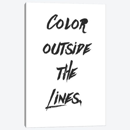 Outside The Lines Canvas Print #ABA53} by Little Cabin Art Prints Canvas Art