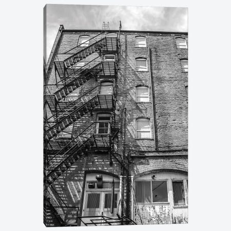 Back Alley Wall Canvas Print #ABA5} by Little Cabin Art Prints Canvas Artwork