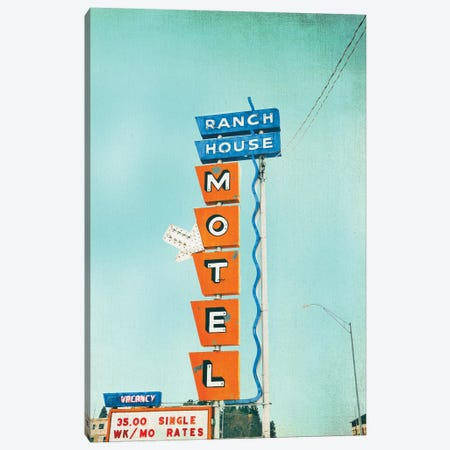 Ranch House Motel Canvas Print #ABA66} by Little Cabin Art Prints Canvas Artwork