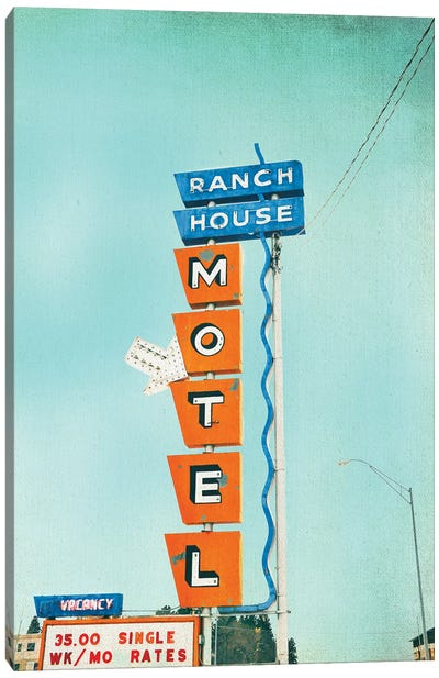 Ranch House Motel Canvas Art Print