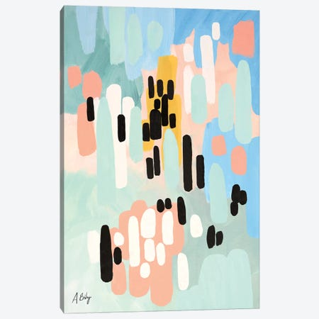 Saturdays Canvas Print #ABA75} by Little Cabin Art Prints Canvas Art Print