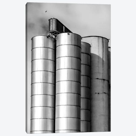 Silos Canvas Print #ABA79} by Little Cabin Art Prints Canvas Wall Art