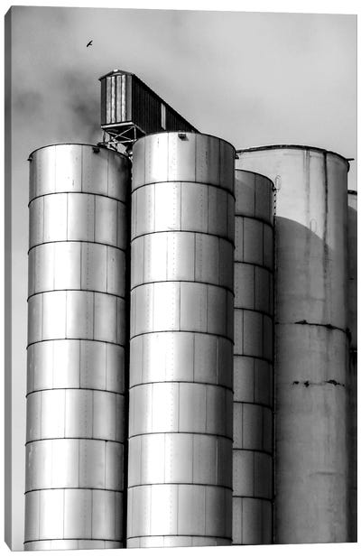 Silos Canvas Art Print